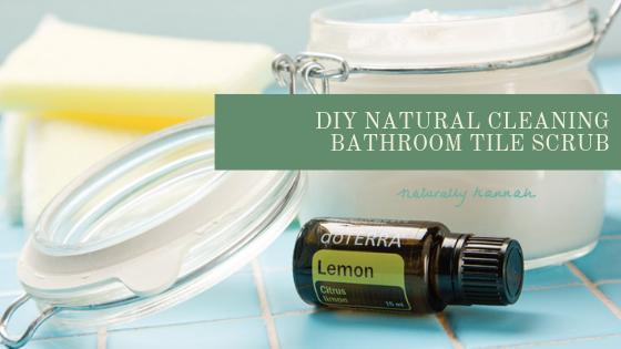 diy bathroom natural tile scrub